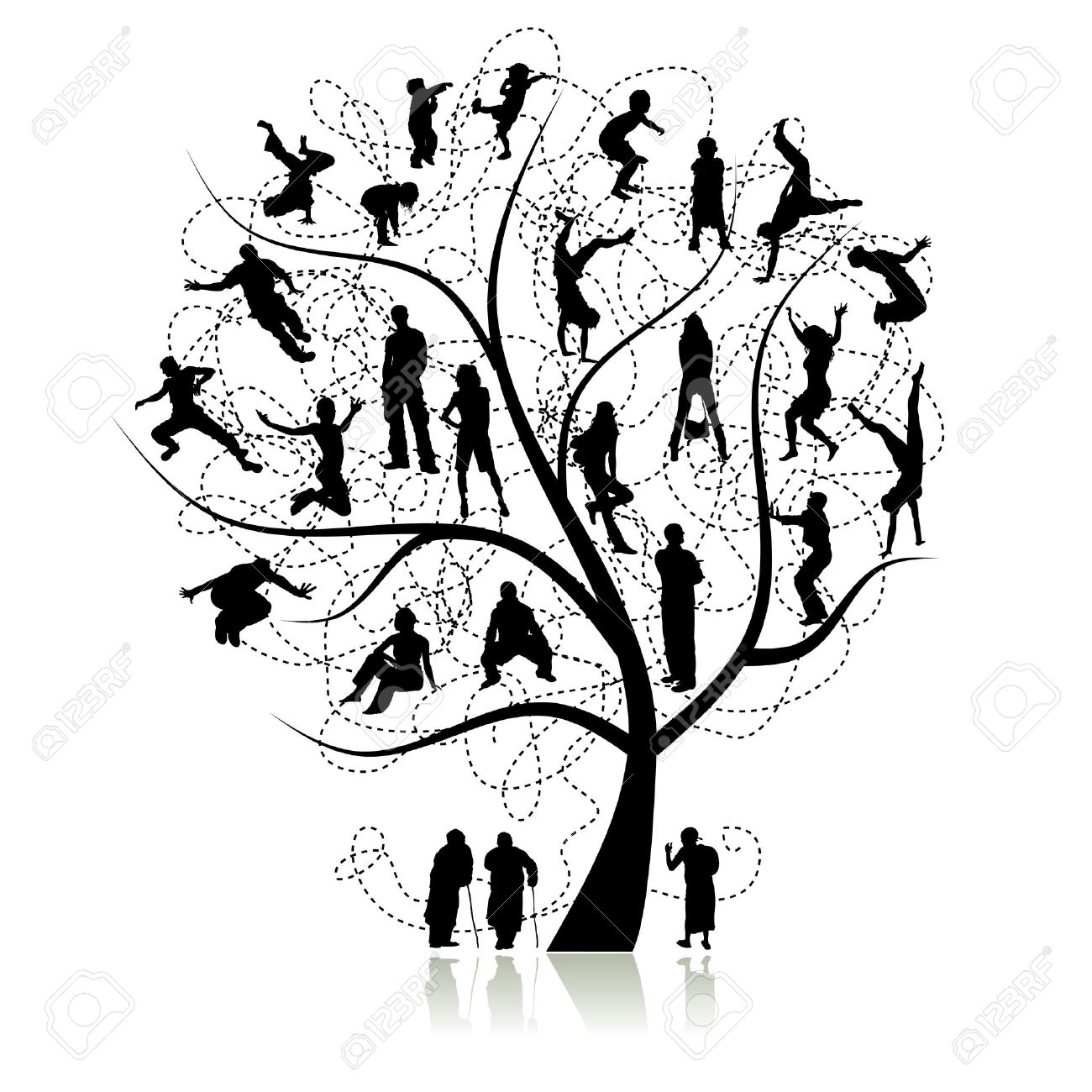 1300x1300 Family Tree, Relatives Royalty Free Cliparts, Vectors, And Stock