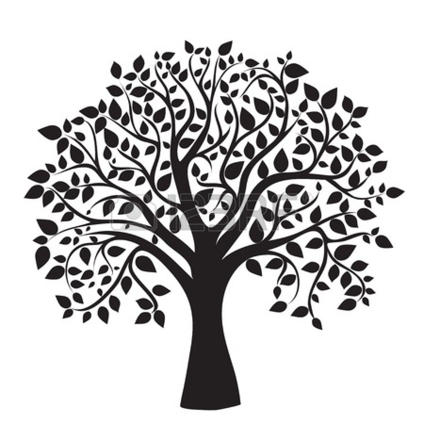 1350x1350 Clipart Trees Black And White Free Clipartdeck
