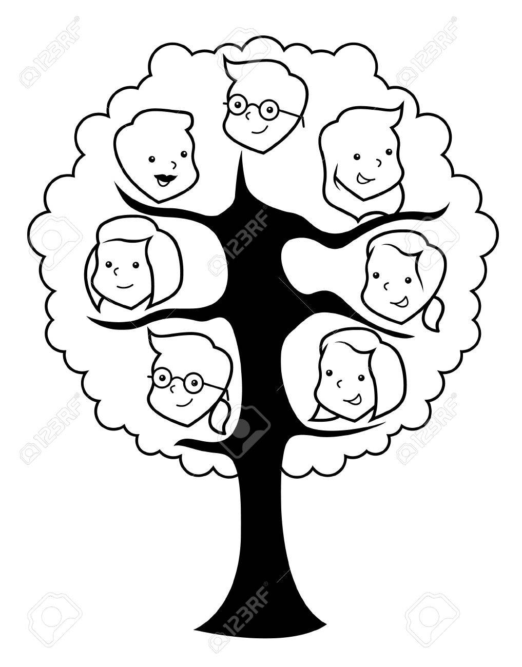 1017x1300 Family Tree Royalty Free Cliparts, Vectors, And Stock Illustration