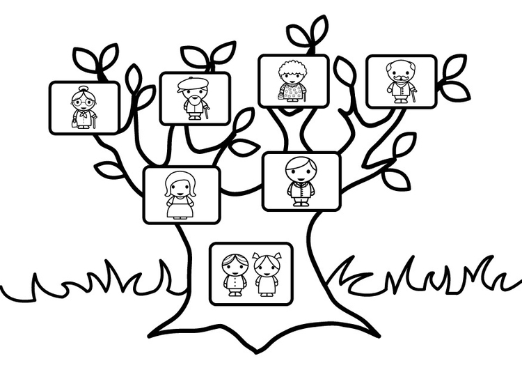 750x531 Coloring Page Family Tree