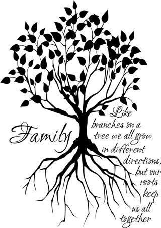 320x454 Drawn Branch Family Tree
