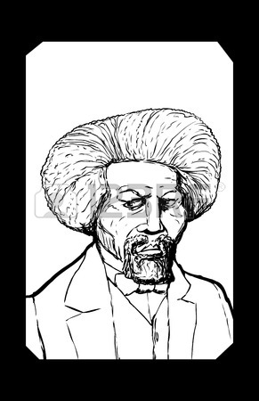 291x450 Hand Drawn Outline Sketch Portrait Of Famous African American