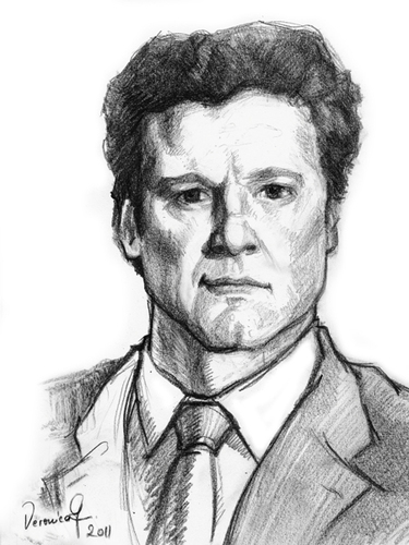 375x500 Colin Firth By Vera Gafton Famous People Cartoon Toonpool