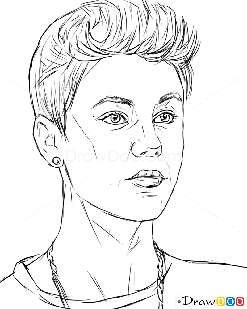 800x1000 Easy Famous People To Draw How To Draw Justin Bieber, Justin