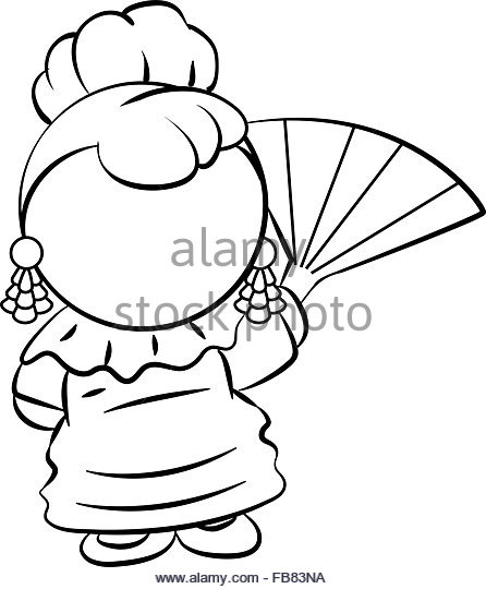 446x540 Spanish Lady With Fan Stock Photos Amp Spanish Lady With Fan Stock