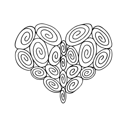Fancy Heart Drawing