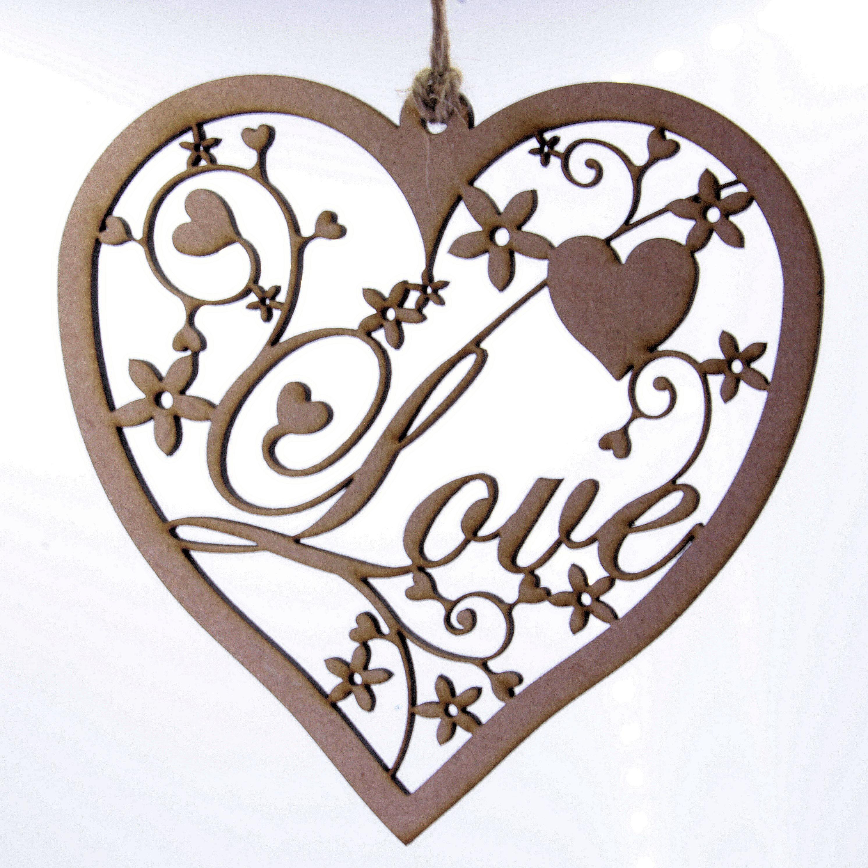 2983x2983 Fancy Heart Hanging Decoration