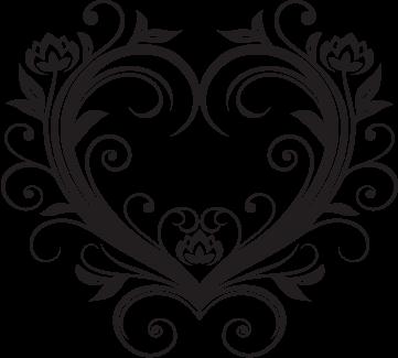 361x325 Fancy Heart Outline For Wedding Stuff