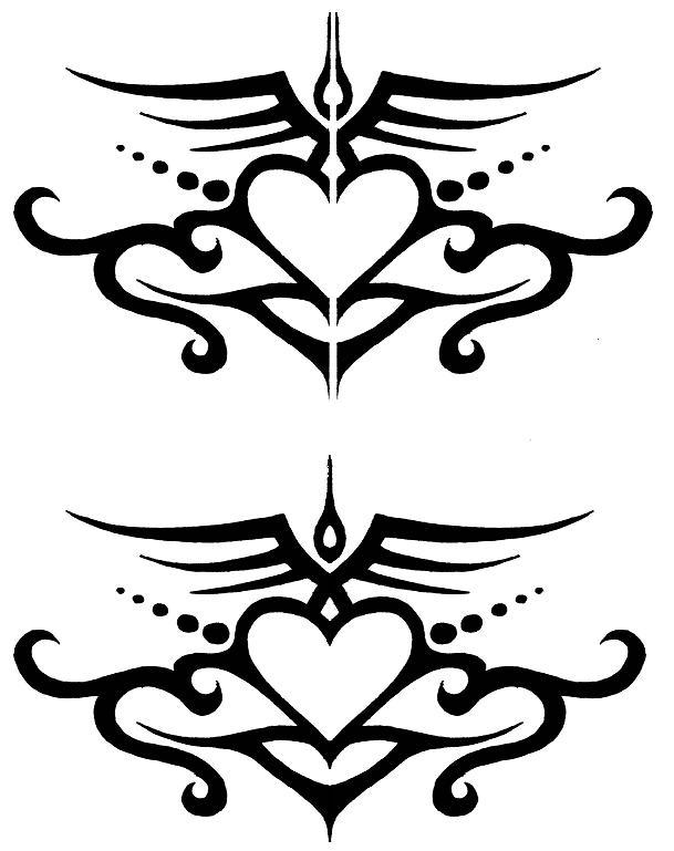 609x769 Fancy Heart Tattoo By Wanderingshadow