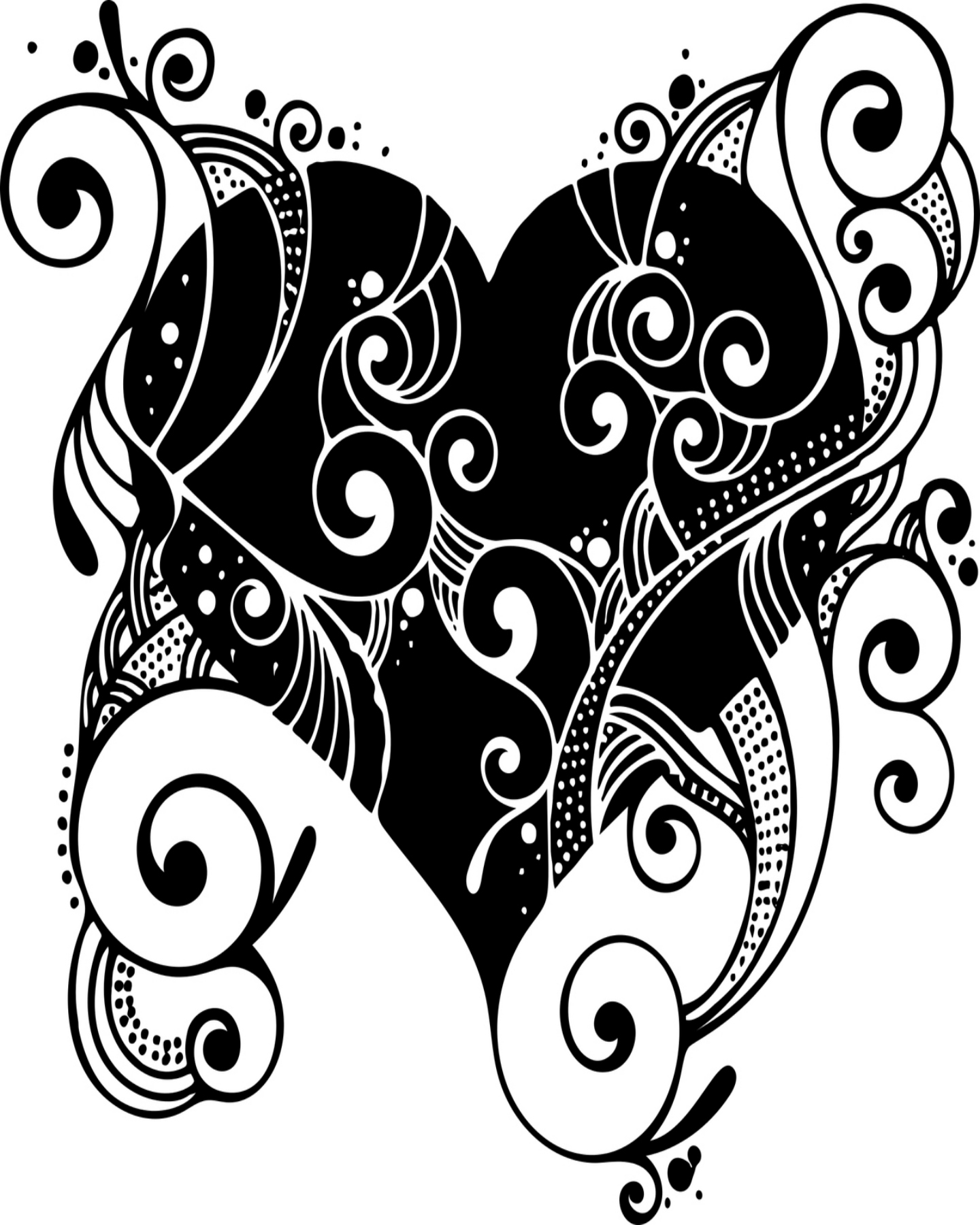 Fancy Heart Drawing at GetDrawings.com | Free for personal use Fancy ...