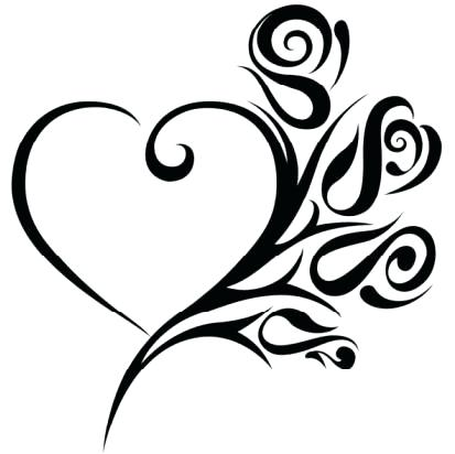 413x412 Cool Drawing Designs Heart Pictures To Draw Trees Interior Design