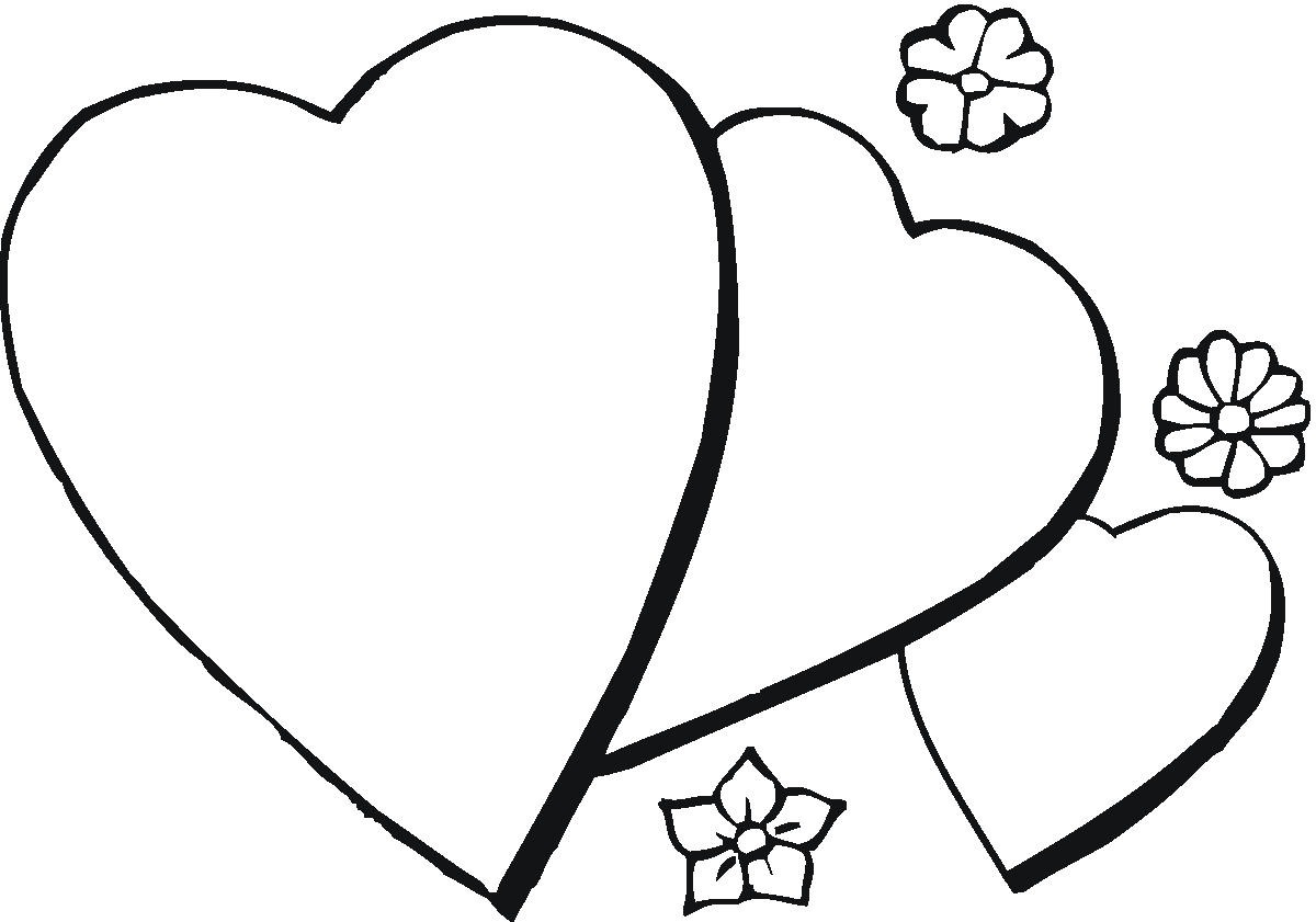 1200x841 Download Flowers And Hearts Coloring Pages