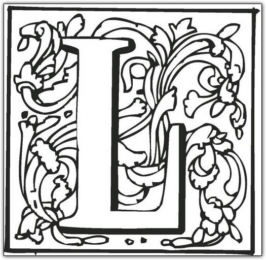 525x512 fancy letter l coloring pages fancy letter coloring sheets