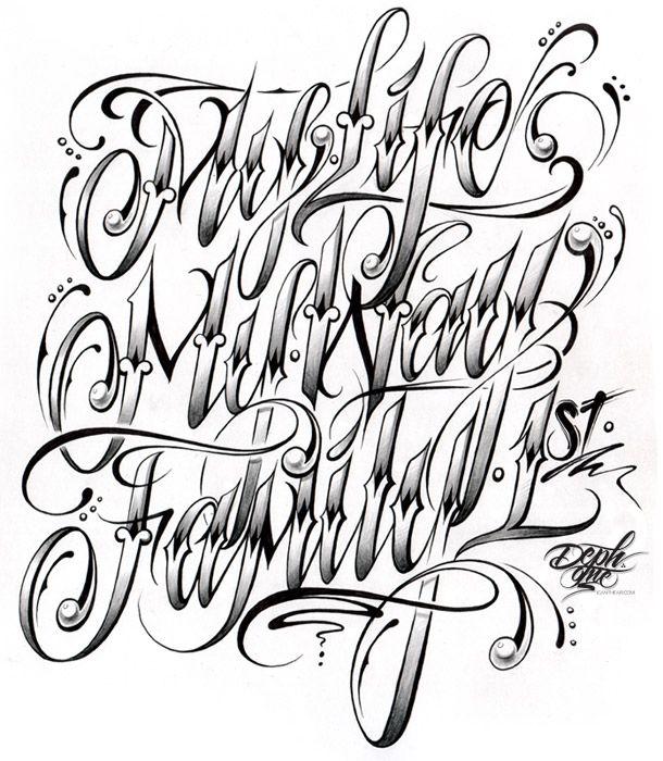 610x700 Drawn Lettering Cursive