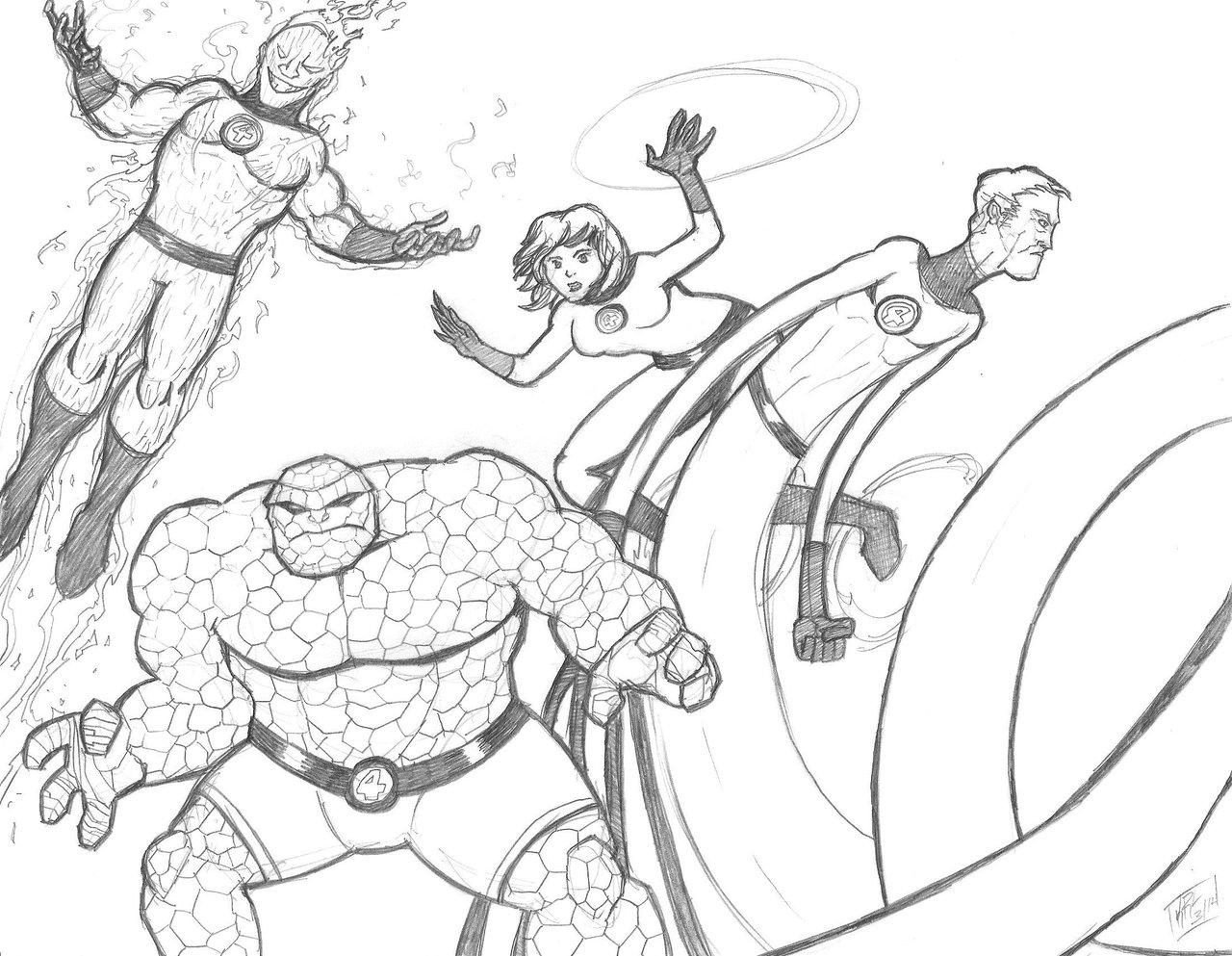 1280x993 Fantastic Four Sketch By Kaboomanator