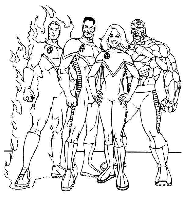 Fantastic Four Drawing