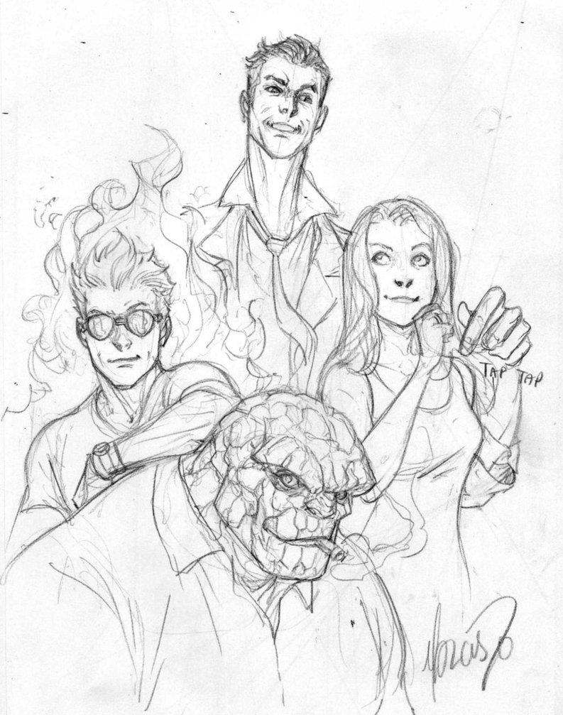 793x1007 Fantastic Four Sketch By 0boywonder0