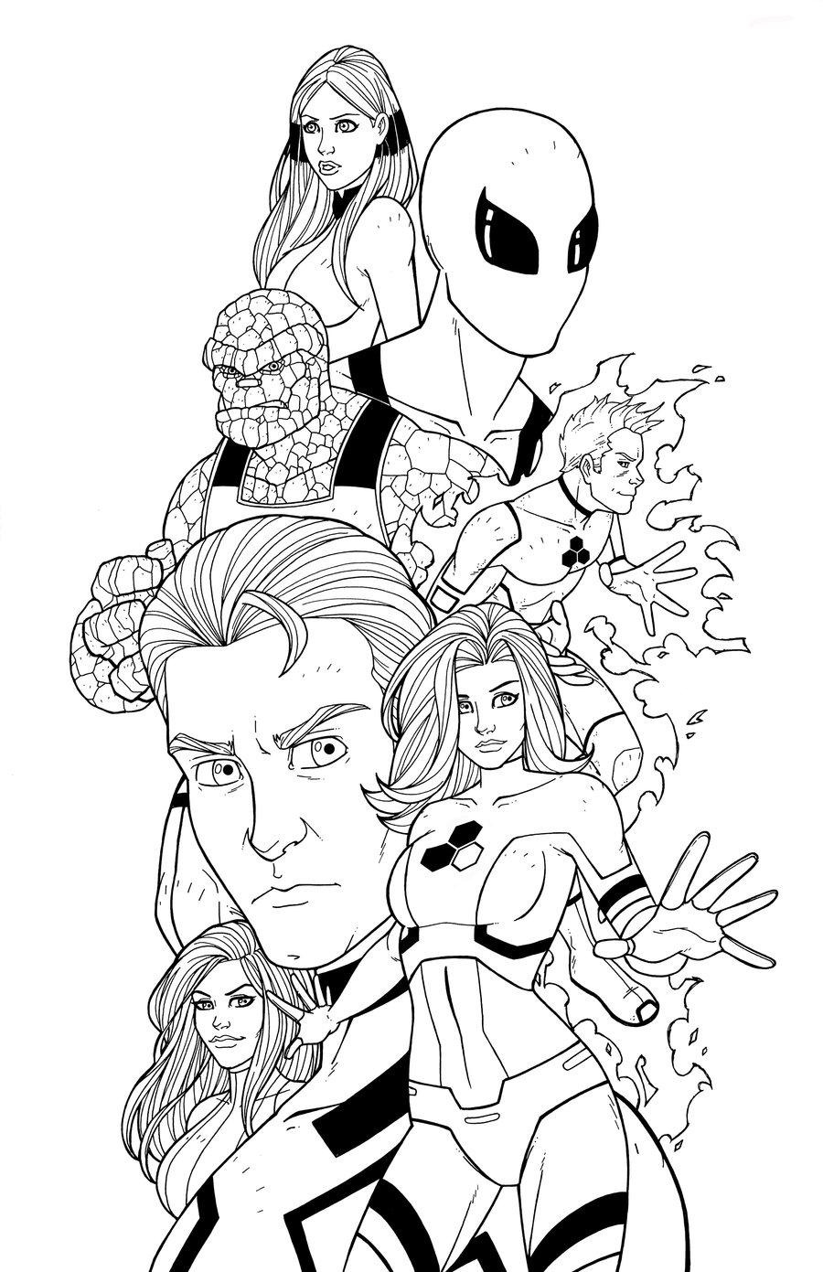 Fantastic Four Drawing at GetDrawings | Free download