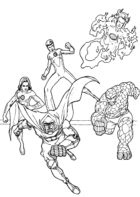 565x792 Fantastic Four Coloring Pages, Videos For Kids, Reading