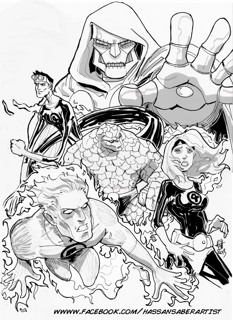 763x1047 Fantastic Four By Scarecrowhassan