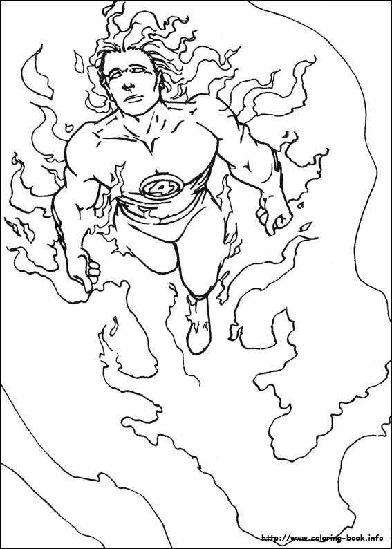 567x794 Fresh Fantastic Four Coloring Pages 29 In Print Coloring Pages