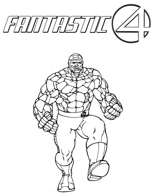 612x757 Kleurplaten Fantastic Four 1 Drawing Amp Sketches