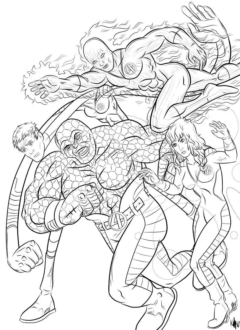 800x1100 The Fantastic Four By Kaufee
