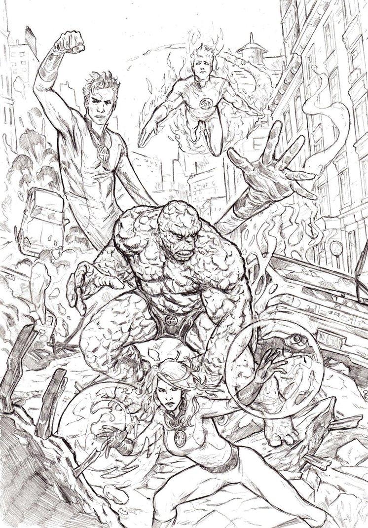 746x1070 Fantastic Four By Mar11co
