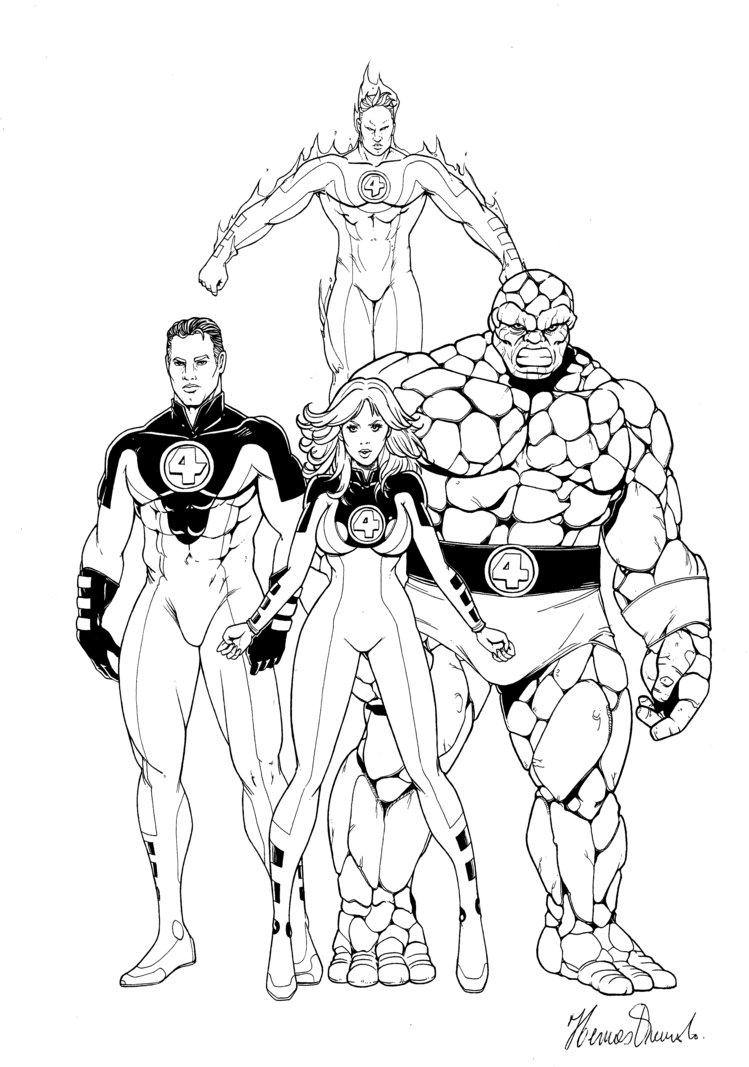 749x1067 Fantastic Four By Hermesq