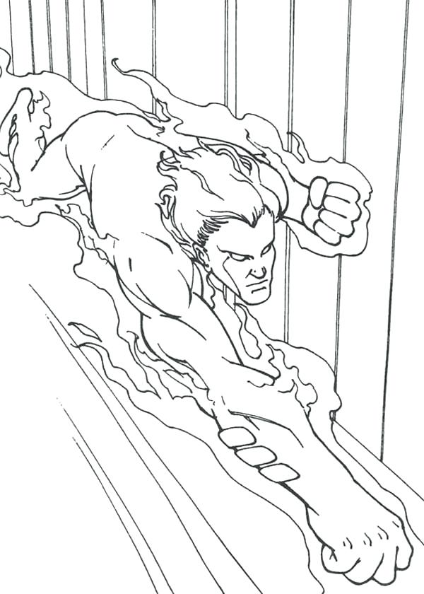 600x840 Fantastic Four Coloring Pages Amazing Fantastic Four Colouring