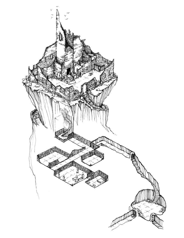 Fantasy Castle Drawing