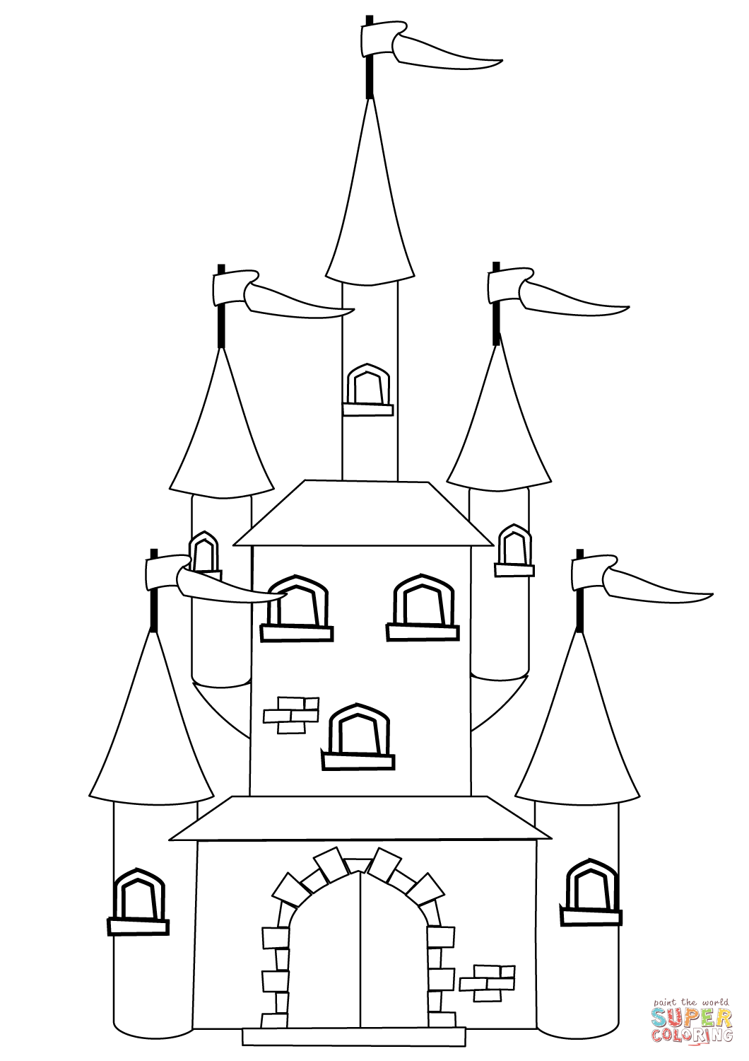 1060x1500 Fantasy Castle Coloring Page Free Printable Pages