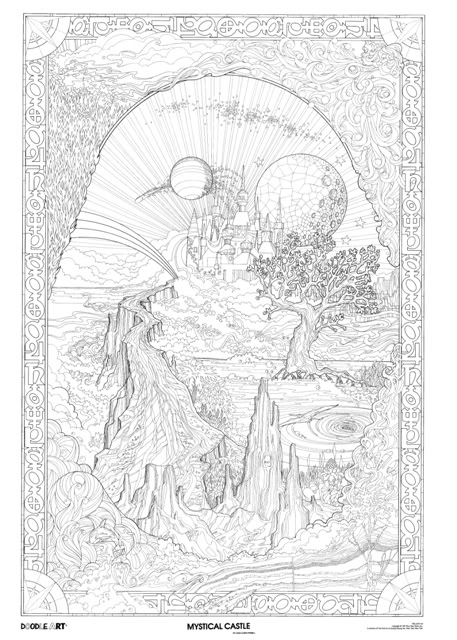 457x640 Mystical Castle Doodle Art Poster 1 Photo By Doodleartposters