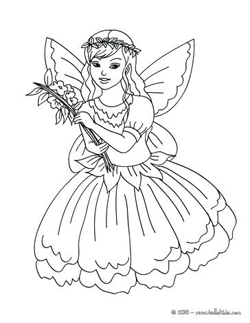 364x470 Fairy Coloring Pages Fairy Leaf Dress Fairy Flower Dress Coloring