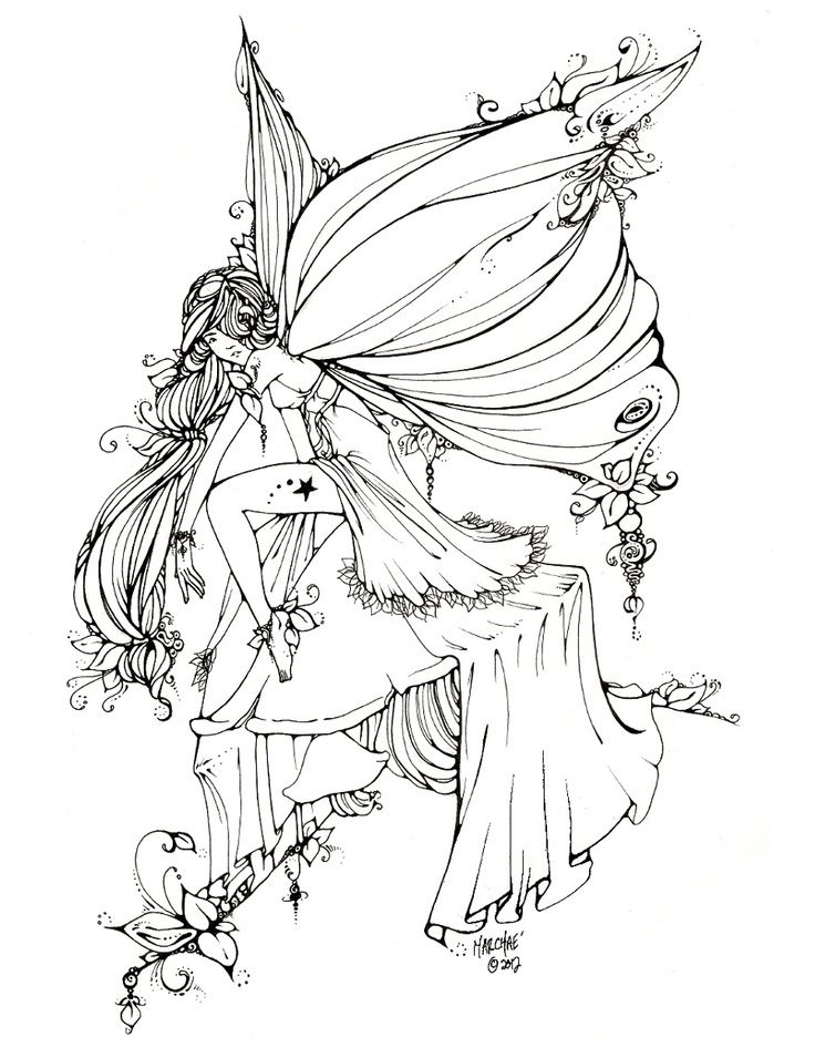 Fantasy Fairy Drawing at GetDrawings.com | Free for personal ...