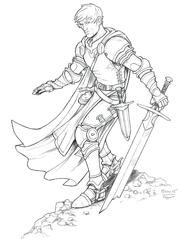 Fantasy Knight Drawing