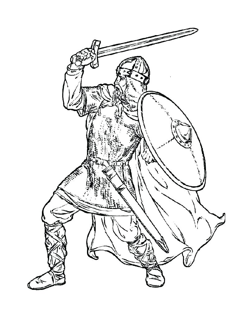 fantasy coloring pages eagles knights - photo#1