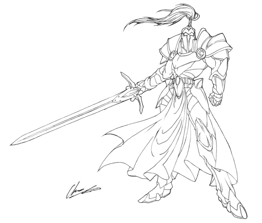 Fantasy Knight Drawing At GetDrawings.com