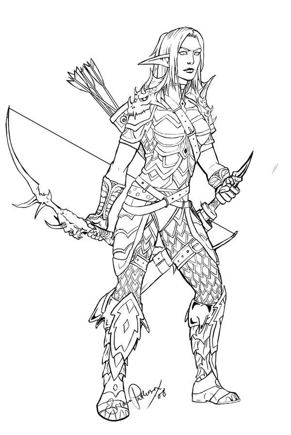 600x896 World Warcraft Night Elf Line Drawings Here Are Some