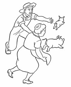236x288 Farm Scene Coloring Pages Are Great For Teaching Children About