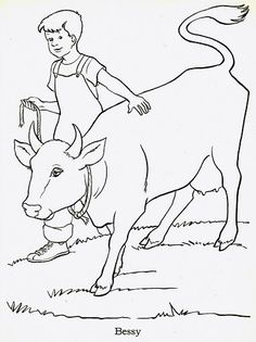236x315 Look! The Farm Boy Is Milking A Cow In The Barn And His Puppy Is
