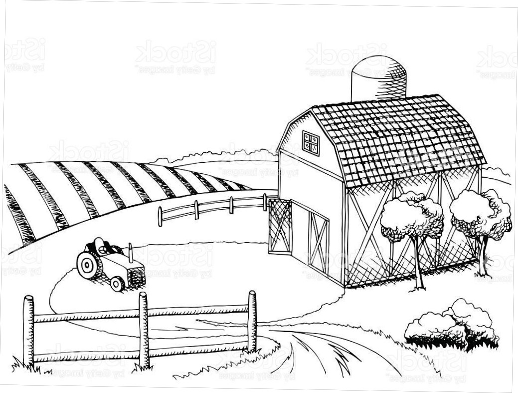 Farm Field Drawing