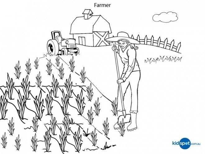 660x495 Farm Field Coloring Page