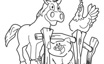 348x215 Coloring Page Farm Animal Farm Field Coloring Page Farm Animal