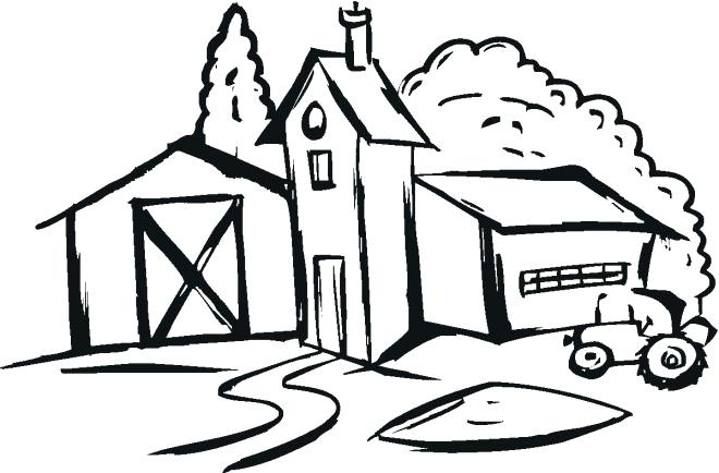 660x434 Coloring Pages Farm For Farm House Coloring Pages Free Farm