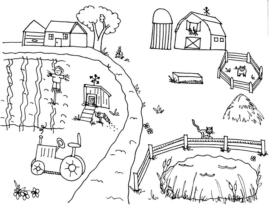 Farm Scene Drawing at GetDrawings   Free download