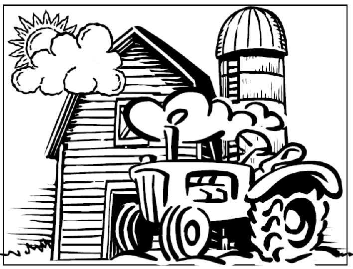 farm scene coloring pages - photo#25
