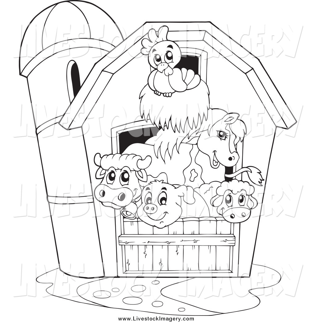 Farm Scenes Drawing at GetDrawings.com | Free for personal use Farm ... for Animal Farm House Drawing  45ifm