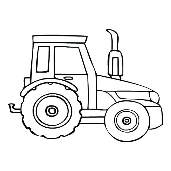 600x600 Tractor Coloring Pages Printable Free For