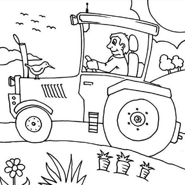 farm coloring pages tractors - photo#19
